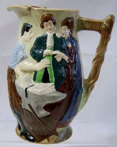 Burleigh Ware 'The Runaway Marriage' - Beehive Pottery Mark - 1940s - SOLD